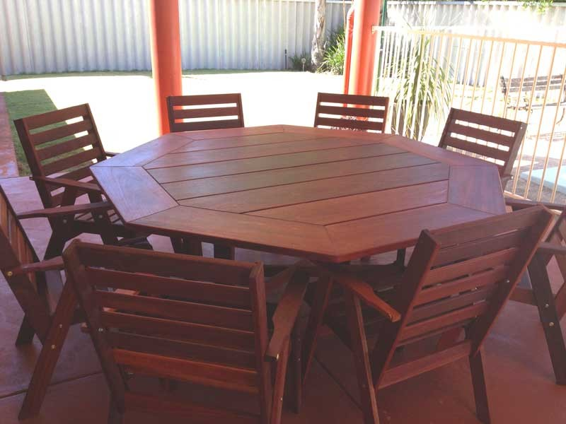 6 And 8 Seater Outdoor Jarrah Settings And Furniture