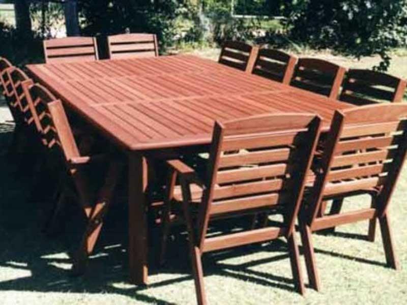 Groovy 10 And 12 Seater Outdoor Jarrah Settings Lifestyle Jarrah Ibusinesslaw Wood Chair Design Ideas Ibusinesslaworg